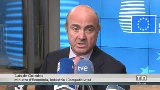 De Guindos, satisfet de ser nomenat vicepresident del BCE