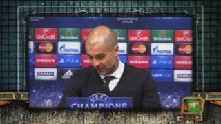 Incident a la roda de premsa de Guardiola