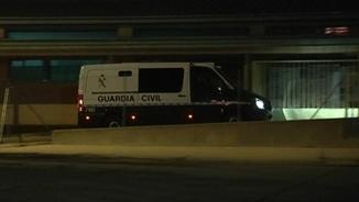 La furgoneta de la Guàrdia Civil, amb Pujol Ferrusola a dins, entrant a Soto del Real