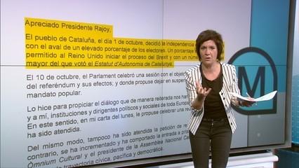 Empar Moliner fa una comparativa entre les cartes de Rajoy i de Puigdemont... i estudia fins a l'última coma
