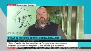 """Joan Mena (En Comú Podem): """"Qüestionar el model educatiu de Catalunya no ajudarà Cs ni el PP a tenir millors resultats a Catalunya"""""""