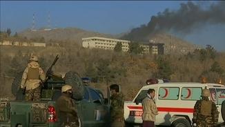L'Hotel Intercontinental de Kabul després de l'atac