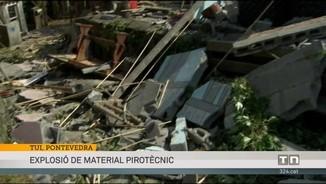 Almenys quatre morts i 12 ferits en l'explosió de material de pirotècnia a Tui