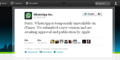Whatsapp deixa d'estar disponible temporalment a la botiga d'Apple