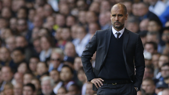 Pep Guardiola al camp del Tottenham (Reuters)
