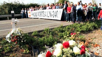 Protesta massiva pels accidents a l'N-240