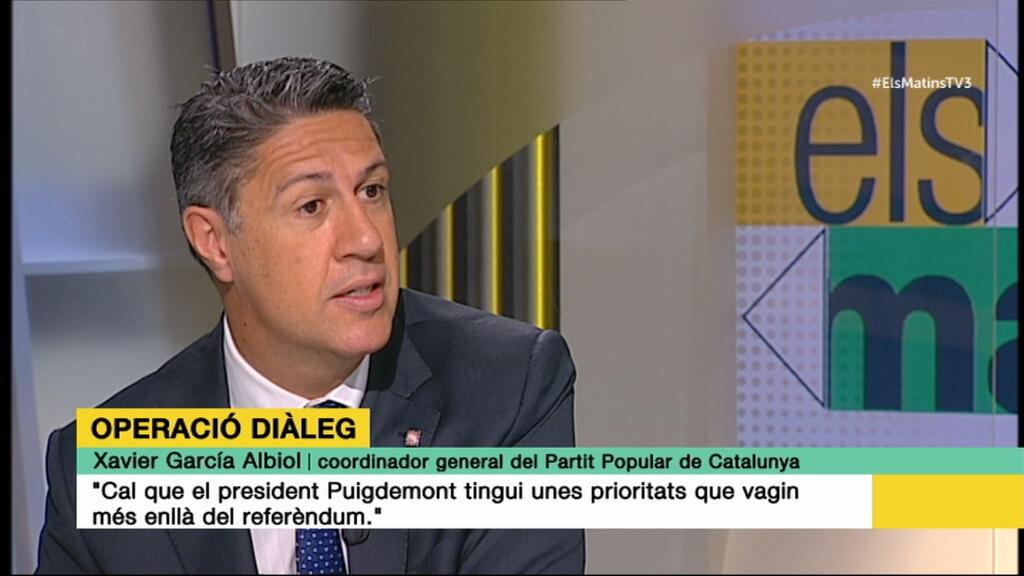 """Xavier García Albiol: """"Cal que el president Puigdemont tingui unes prioritats que vagin més enllà del referèndum"""""""