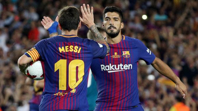 Messi i Suárez, en un partit amb el Barça (Reuters)