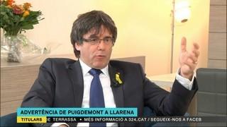 """Carles Puigdemont: """"Anar a noves eleccions no seria cap tragèdia"""""""