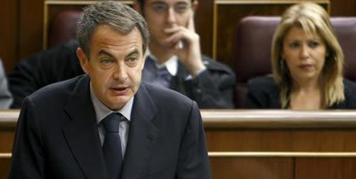 Imatge d'arxiu de Zapatero en una intervenció al Congrés (Foto: EFE)