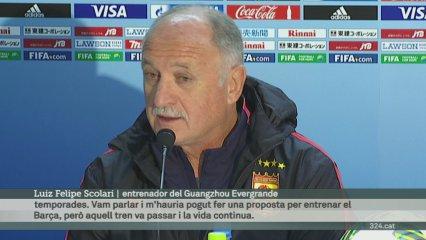 Scolari es rendeix al Barça i parla de l'interès de Rosell