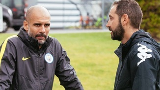 Pep Guardiola i Pablo Machín