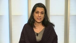 Anna Gabriel, aquest dimecres a Ginebra durant l'entrevista a TV3