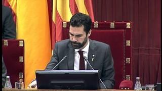 Primer ple de la legislatura al Parlament