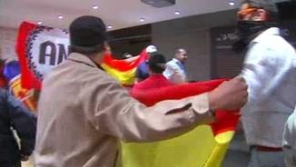 Atac al centre cultural Blanquerna la Diada del 2013