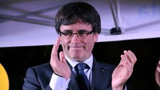 El president Carles Puigdemont a Girona