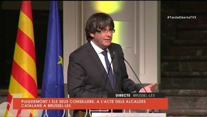 """Puigdemont: """"Juncker, Tajani, és aquesta l'Europa que ens convideu a construir, amb un govern empresonat?"""""""