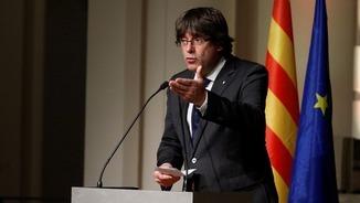 """Puigdemont: """"Esteu disposats a acceptar els resultats del 21D?"""" [Discurs íntegre des de Brussel·les]"""