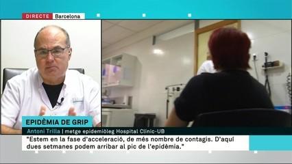 """Antoni Trilla, epidemiòleg: """"D'aquí dues setmanes podem arribar al pic de l'epidèmia de la grip"""""""