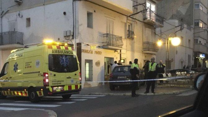 El bar on hi ha hagut el tiroteig (Canal 21 Ebre)