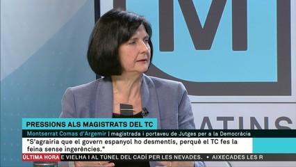 """Montserrat Comas: """"No tenim constància de trucades del govern a membres del Tribunal Constucional"""""""