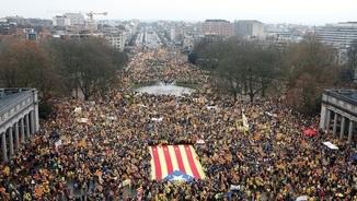 La manifestació independentista del 7 de desembre a Brussel·les (Reuters)