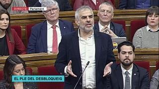 """Carlos Carrizosa: """"Creiem que la mesa ha prevaricat, que ha comès un delicte desestimant les nostres reconsideracions"""""""