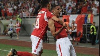 Rivaldinho celebra el seu gol (Foto: @FCDinamoEN)
