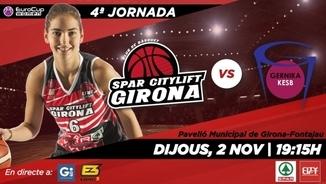 Cartell del partit Spar City Lift Girona-Gernika Biskaia