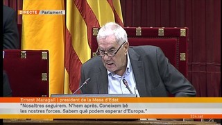 """Ernest Maragall: """"No abandonarem la via democràtica. Assumirem un projecte per a tots els ciutadans"""""""