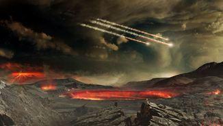 Imatge hipotètica de l'atmosfera primitiva