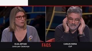 Elsa Artadi i Carles Riera, cara a cara