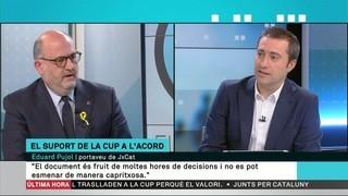 """Eduard Pujol (JxCat): """"El document que hem lliurat a la CUP no permet esmenes capritxoses, però sí matisos"""""""