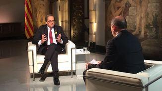 """Quim Torra: """"Espero que amb el PSOE s'acabi la persecució"""". L'entrevista en 3 minuts"""