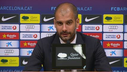 Guardiola, content amb l'espectacle