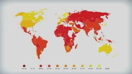 El rànquing dels països més corruptes