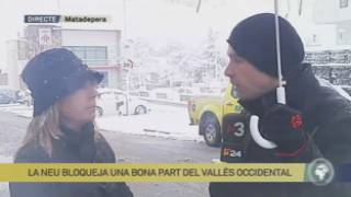 La neu bloqueja una part del Vallès Occidental