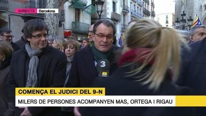 Artur Mas pensa que avui es jutja la voluntat d'actuar democràticament
