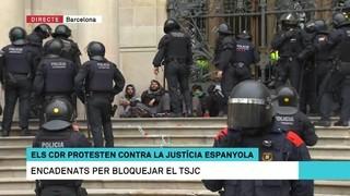 Protesta dels CDR contra la justícia espanyola