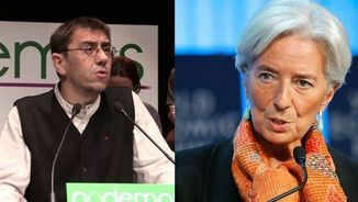 "Juan Carlos Monedero a Christine Lagarde: ""Dóna'ns exemple i more't tu"""