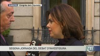 """Soraya Sáenz de Santamaría: """"La setmana que ve s'obre un nou temps"""""""