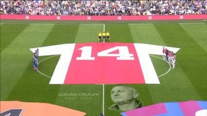 Minut de silenci al camp de l'Ajax per Cruyff