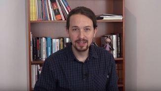 Imatge del vídeo divulgat per Iglesias i Podem per les xarxes socials aquest 12-O