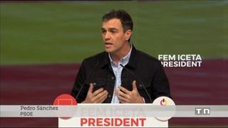 Zapatero i Sánchez acompanyen Miquel Iceta en l'acte central del PSC a Barcelona