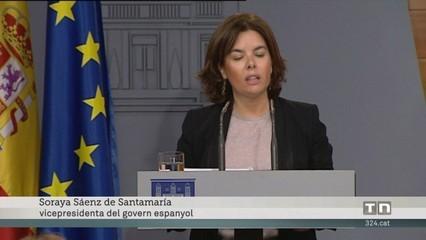 Sáenz de Santamaría acusa Puigdemont de victimisme i diu que es mou per càlculs electoralistes