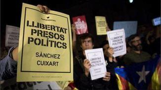 Concentracions de protesta per l'empresonament de J.Sánchez i J.Cuixart
