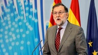 Mariano Rajoy en un acte a Terol aquest dimarts (EFE)