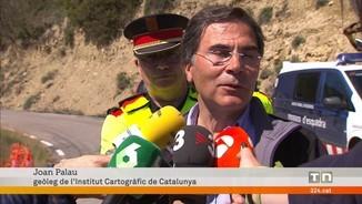 Busquen dues persones atrapades per una esllavissada a Castell de Mur