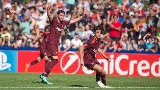 El Barça juvenil ha derrotat el Manchester City i s'ha classificat per a la final de la Youth League (@FCBMasia)