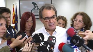 """Artur Mas insta Rajoy a passar del """"no"""" i les querelles al diàleg per pactar un referèndum"""